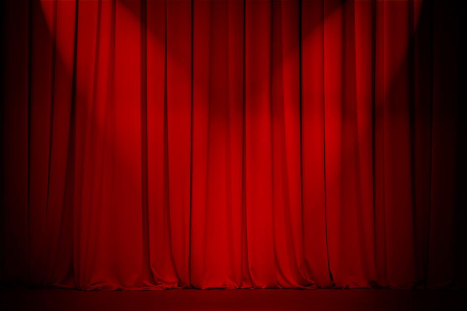 Red Cinema Curtains Kostenlose Illustration Kino Theater